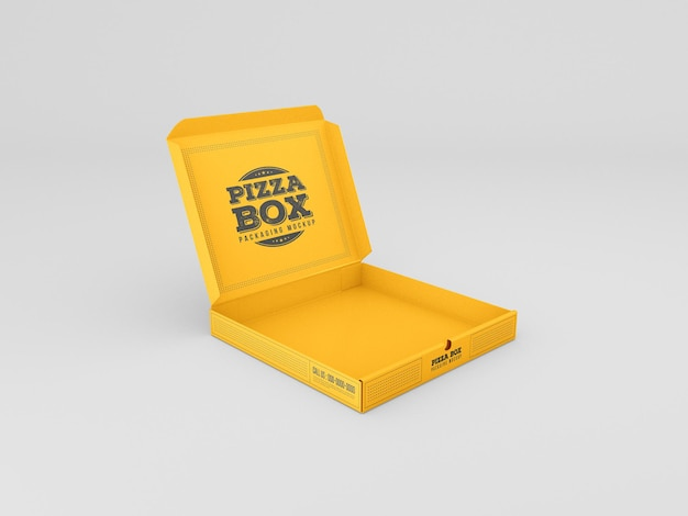 Макет коробки для пиццы