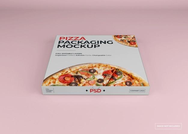 Изолированный дизайн макета упаковки пиццы