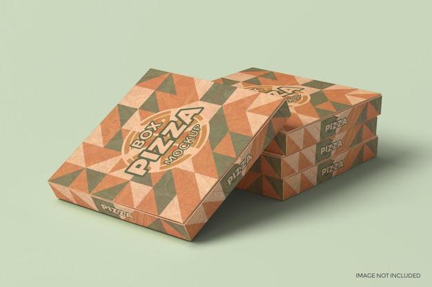 Макет упаковки коробки для пиццы