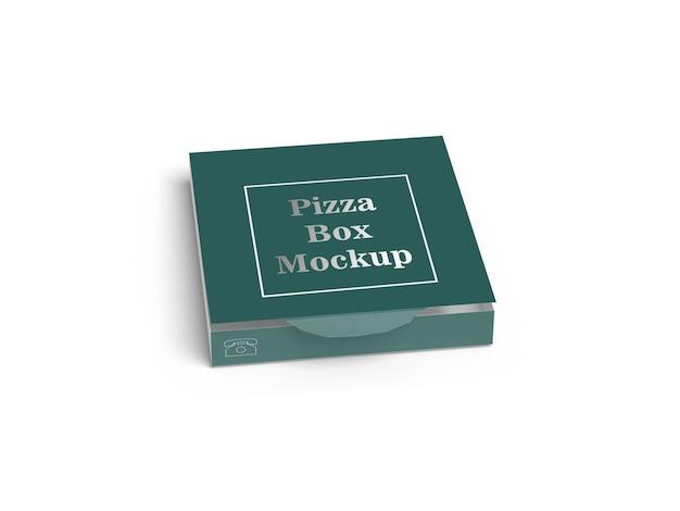 Pizza box on white