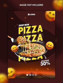 Шаблон оформления флаера пиццы dicount