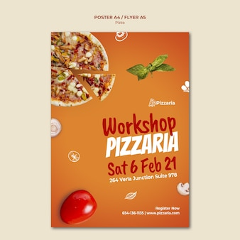 Pizza flyer template design