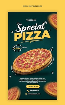 Pizza instagram stories banner template