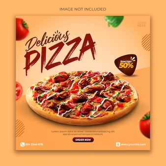 Pizza menu promotion banner template