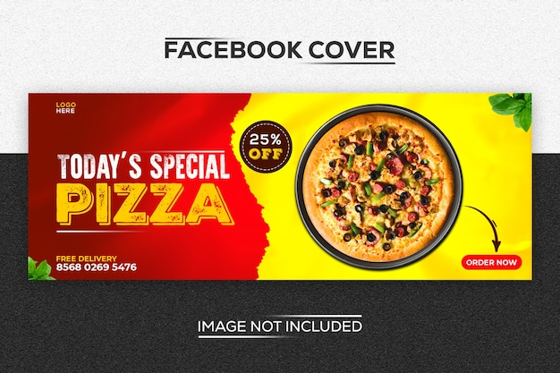Pizza modern facebook cover template