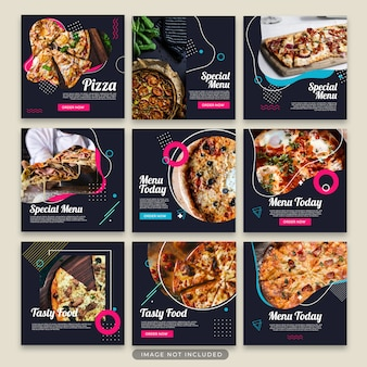 Pizza post template collection psd