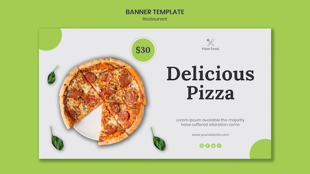 Pizza restaurant ad template banner