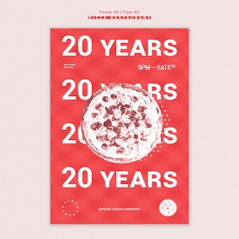 Pizza restaurant ad template poster