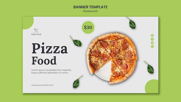 Шаблон баннера для пиццы