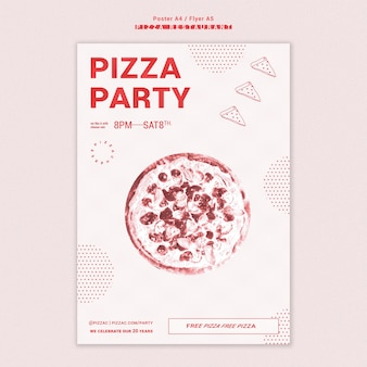 Pizza restaurant poster template