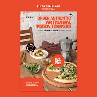 Шаблон печати ресторан пиццы Бесплатные Psd