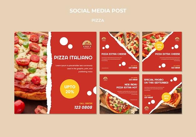 Pizza restaurant social media post template
