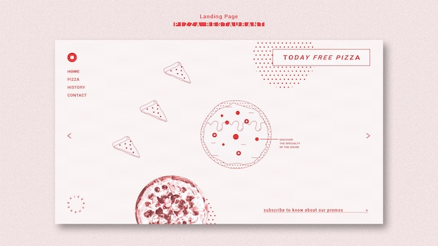 Pizza restaurant template landing page
