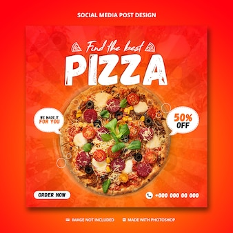 Pizza sale social media post template