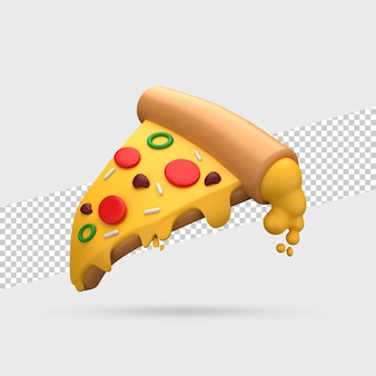 ピザスライス3dレンダリング