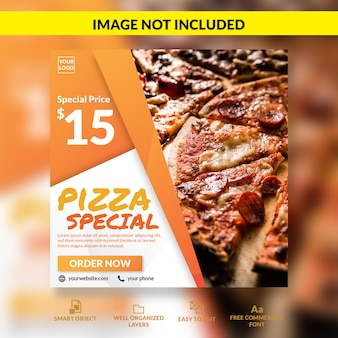 Pizza special offer social media post template