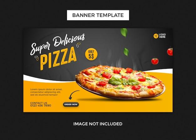 Шаблон дизайна веб-баннера пиццы