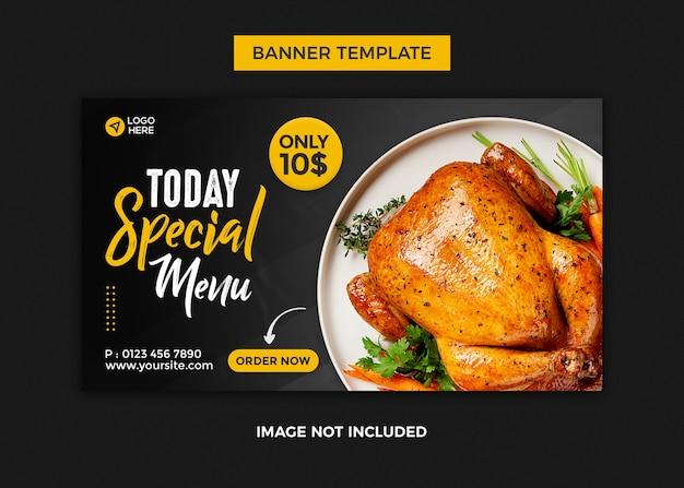 Pizza web banner design template