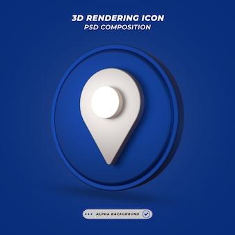 Значок места или местоположения в 3d-рендеринге