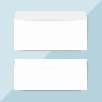 Plain paper envelope design mockup vector