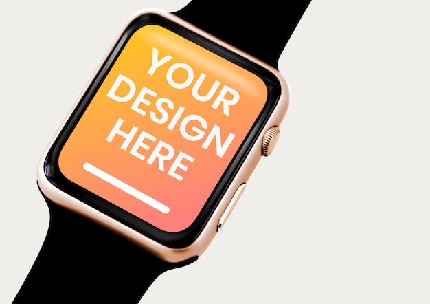Plain smartwatch screen