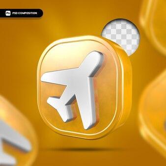 3d 렌더링에서 비행기 아이콘