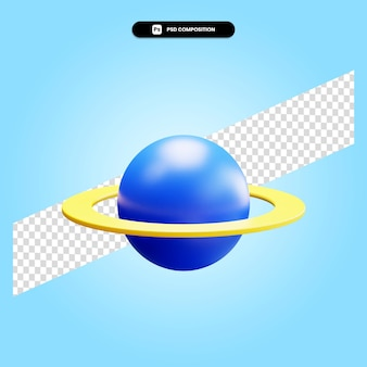 Planet 3d render illustration isolated