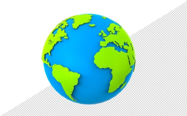 Планета земля 3d визуализации