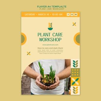 Modello di volantino per officina di cura delle piante