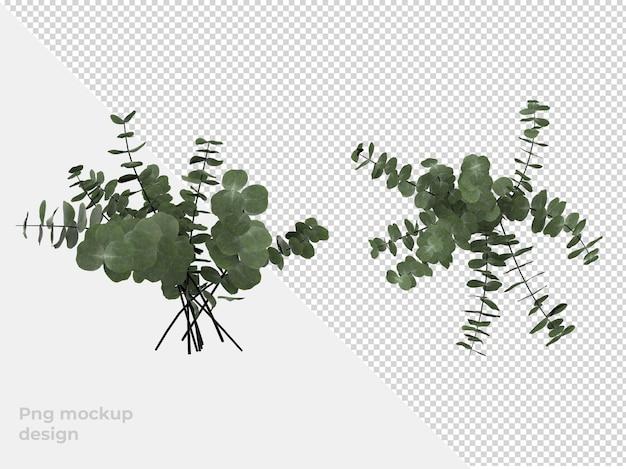 植木鉢の3dレンダリング装飾とインテリアデザイン