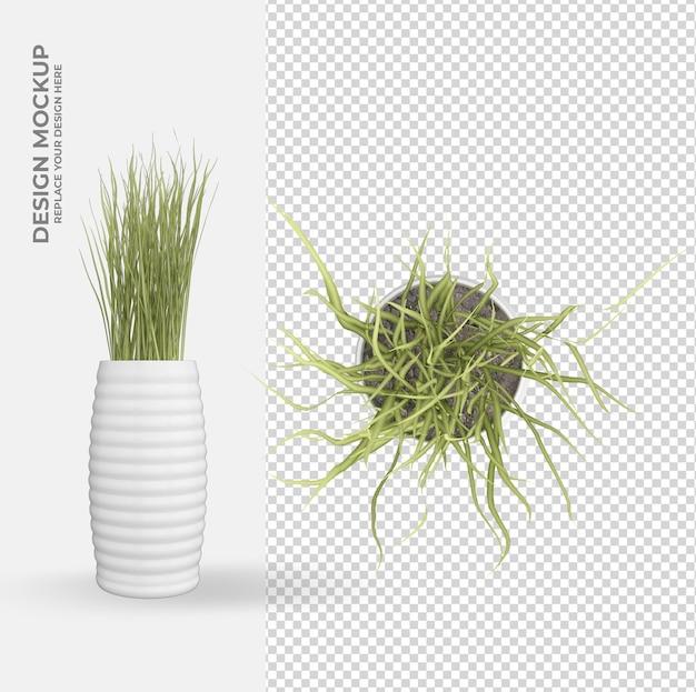 植木鉢の装飾とインテリアデザインのシーンクリエーター
