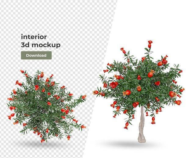 植木鉢の装飾とインテリアデザイン Premium Psd