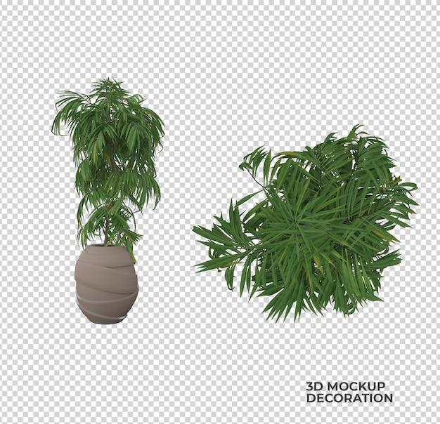 植木鉢の装飾とインテリアデザイン