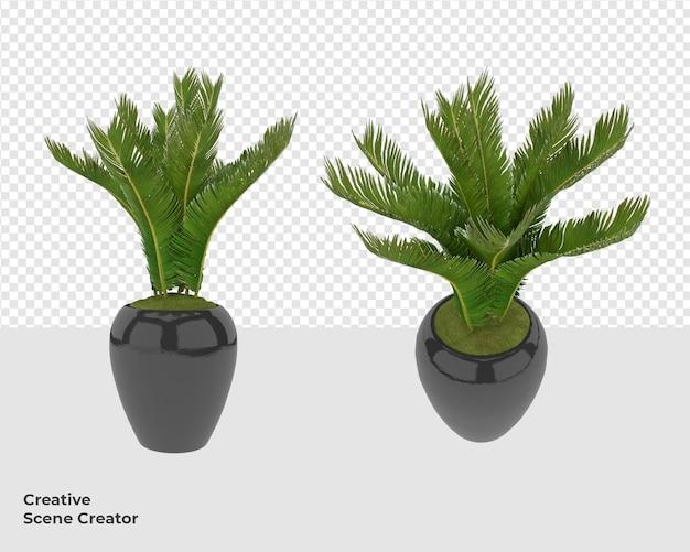 Растение в дизайне декора мебели в горшке