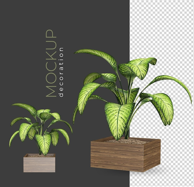 装飾を分離してレンダリングする植木鉢