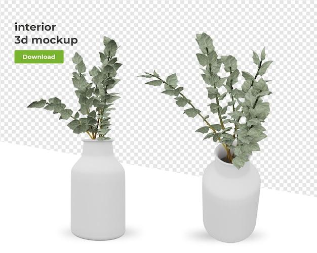 孤立したデザインをレンダリングする際にポットに植える
