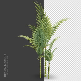 Plant interior decoration rendering
