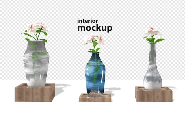 Plant interior mockup rendering isolated