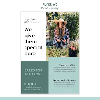 Plant nursery flyer template