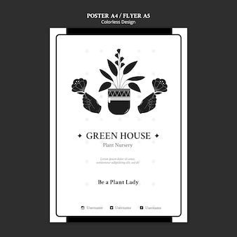 Plant nursery poster template