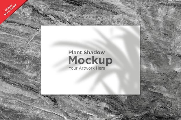 Plant shadow over sheet mockup design
