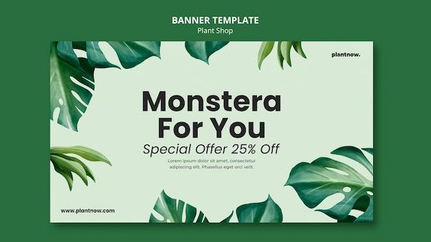 Modello di banner negozio di piante
