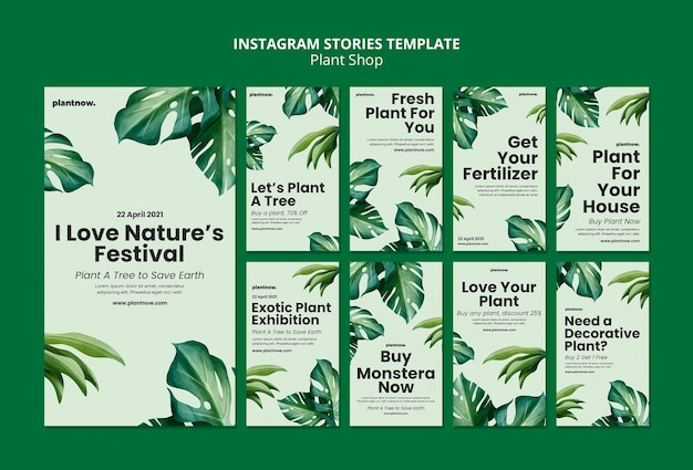 Plant shop  instagram stories template