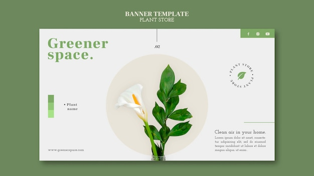 Plant store banner template