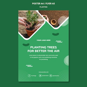 Plant trees for better air poster template