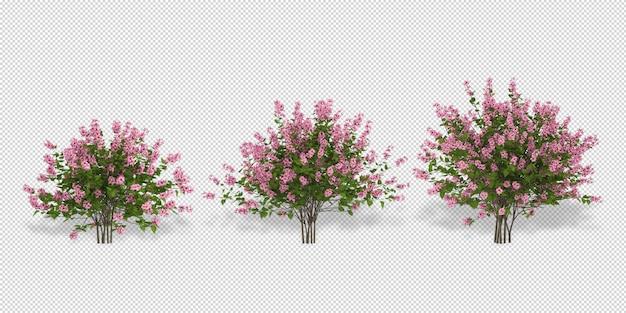 分離された3dレンダリングで植物の花のモックアップ