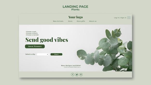 Plants landing page design