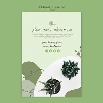 Растения дизайн шаблона плаката Бесплатные Psd