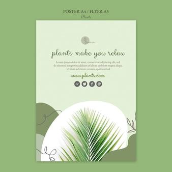 Шаблон плаката растений Бесплатные Psd