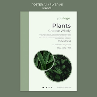 Plants shop flyer template